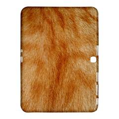 Orange Fur 2 Samsung Galaxy Tab 4 (10 1 ) Hardshell Case  by timelessartoncanvas