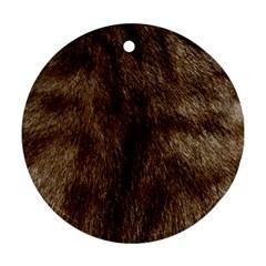 Silber Tiger Fur Ornament (round)  by timelessartoncanvas
