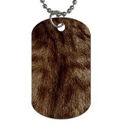 Silber Tiger Fur Dog Tag (two Sides) by timelessartoncanvas