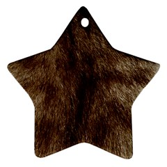 Silber Tiger Fur Star Ornament (two Sides)  by timelessartoncanvas