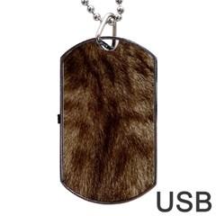 Silber Tiger Fur Dog Tag Usb Flash (one Side) by timelessartoncanvas