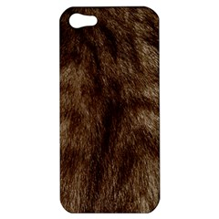 Silber Tiger Fur Apple Iphone 5 Hardshell Case by timelessartoncanvas