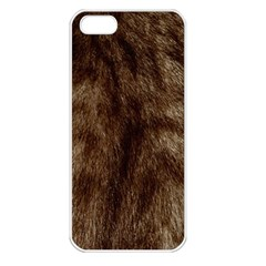 Silber Tiger Fur Apple Iphone 5 Seamless Case (white) by timelessartoncanvas