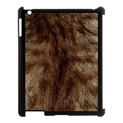 Silber Tiger Fur Apple Ipad 3/4 Case (black) by timelessartoncanvas