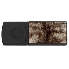 Black And White Silver Tiger Fur Usb Flash Drive Rectangular (4 Gb)  by timelessartoncanvas