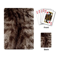 Black And White Silver Tiger Fur Playing Card by timelessartoncanvas