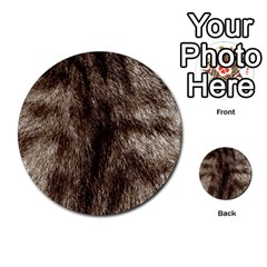 Black And White Silver Tiger Fur Multi Purpose Cards (round)  by timelessartoncanvas