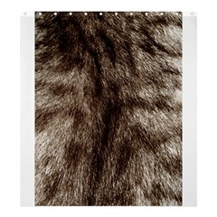 Black And White Silver Tiger Fur Shower Curtain 66  X 72  (large)  by timelessartoncanvas