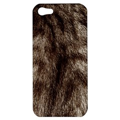 Black And White Silver Tiger Fur Apple Iphone 5 Hardshell Case by timelessartoncanvas