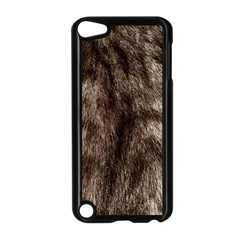 Black And White Silver Tiger Fur Apple Ipod Touch 5 Case (black) by timelessartoncanvas