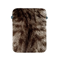 Black And White Silver Tiger Fur Apple Ipad 2/3/4 Protective Soft Cases by timelessartoncanvas