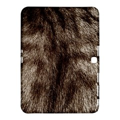 Black And White Silver Tiger Fur Samsung Galaxy Tab 4 (10 1 ) Hardshell Case  by timelessartoncanvas