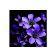 Springtime Flower Design Satin Bandana Scarf by timelessartoncanvas
