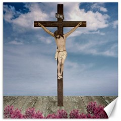 Jesus On The Cross Illustration Canvas 12  X 12   by dflcprints