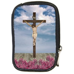 Jesus On The Cross Illustration Compact Camera Cases by dflcprints