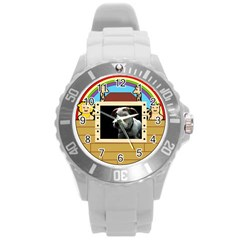 But The Pit Bull Round Plastic Sport Watch (l) by ButThePitBull
