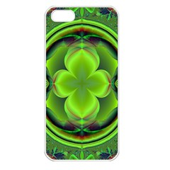 Green Clover Apple Iphone 5 Seamless Case (white) by Delasel
