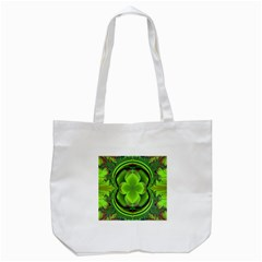 Green Clover Tote Bag (white) by Delasel