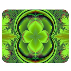 Green Clover Double Sided Flano Blanket (medium)  by Delasel