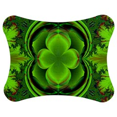 Green Clover Jigsaw Puzzle Photo Stand (bow)