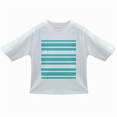 Teal Adn White Stripe Designs Infant/toddler T Shirts by timelessartoncanvas