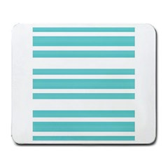 Teal Adn White Stripe Designs Large Mousepads by timelessartoncanvas