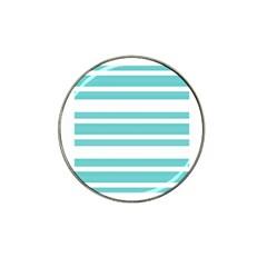Teal Adn White Stripe Designs Hat Clip Ball Marker by timelessartoncanvas