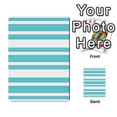 Teal Adn White Stripe Designs Multi Purpose Cards (rectangle)  by timelessartoncanvas