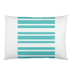 Teal Adn White Stripe Designs Pillow Cases (two Sides) by timelessartoncanvas