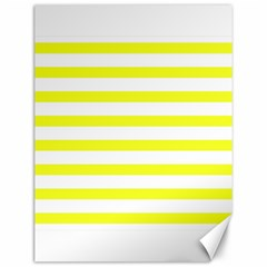Bright Yellow And White Stripes Canvas 12  X 16   by timelessartoncanvas