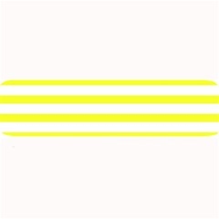 Bright Yellow And White Stripes Large Bar Mats by timelessartoncanvas
