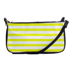 Bright Yellow And White Stripes Shoulder Clutch Bags by timelessartoncanvas