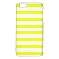 Bright Yellow And White Stripes Iphone 6 Plus/6s Plus Tpu Case by timelessartoncanvas