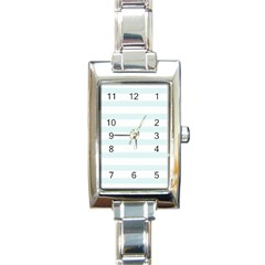 Baby Blue And White Stripes Rectangle Italian Charm Watches by timelessartoncanvas