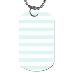 Baby Blue And White Stripes Dog Tag (two Sides) by timelessartoncanvas