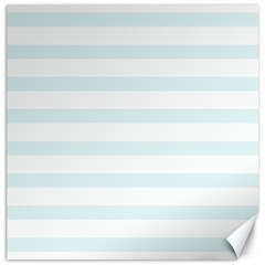 Baby Blue And White Stripes Canvas 12  X 12   by timelessartoncanvas