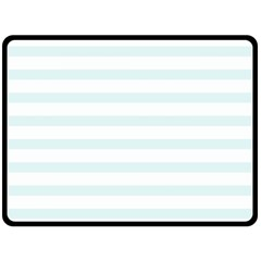Baby Blue And White Stripes Fleece Blanket (large)  by timelessartoncanvas
