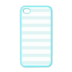 Baby Blue And White Stripes Apple Iphone 4 Case (color) by timelessartoncanvas