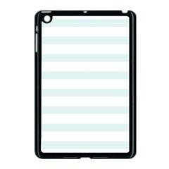 Baby Blue And White Stripes Apple Ipad Mini Case (black) by timelessartoncanvas