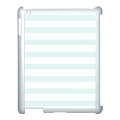 Baby Blue And White Stripes Apple Ipad 3/4 Case (white) by timelessartoncanvas