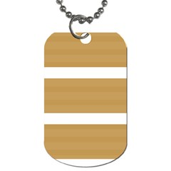 Beige/ Brown And White Stripes Design Dog Tag (two Sides) by timelessartoncanvas