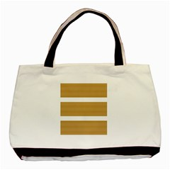 Beige/ Brown And White Stripes Design Basic Tote Bag (two Sides) by timelessartoncanvas