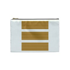 Beige/ Brown And White Stripes Design Cosmetic Bag (medium)  by timelessartoncanvas