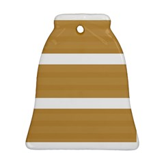 Beige/ Brown And White Stripes Design Bell Ornament (2 Sides) by timelessartoncanvas