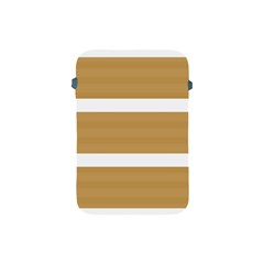 Beige/ Brown And White Stripes Design Apple Ipad Mini Protective Soft Cases by timelessartoncanvas