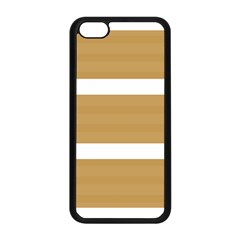 Beige/ Brown And White Stripes Design Apple Iphone 5c Seamless Case (black) by timelessartoncanvas