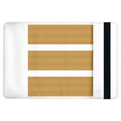 Beige/ Brown And White Stripes Design Ipad Air Flip by timelessartoncanvas