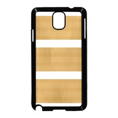 Beige/ Brown And White Stripes Design Samsung Galaxy Note 3 Neo Hardshell Case (black)