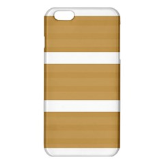Beige/ Brown And White Stripes Design Iphone 6 Plus/6s Plus Tpu Case by timelessartoncanvas