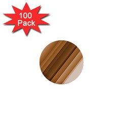 Metallic Brown/neige Stripes 1  Mini Buttons (100 Pack)  by timelessartoncanvas